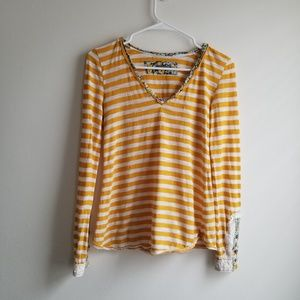 Anthropologie | little yellow button top